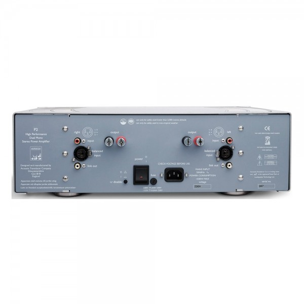 Hi Fi - ATC P2 Dual-Mono Power Amplifier Transistor