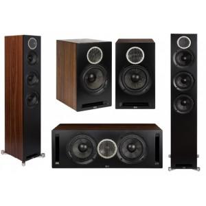 Elac Debut Reference DFR52 System 5.0 Speaker Package Black/Walnut Wood