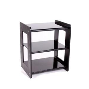 Custom Design Concept 300 Hi-Fi Wood Black Ash With Black Crossbars and Black Glass