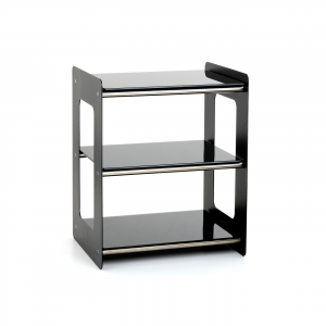 Custom Design Concept 300 Hi-Fi Steel With Brushed Chrome Crossbars and Black Glass