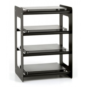 Custom Design Concept 400 Acoustic Hi-Fi Steel With Black Crossbars and Black Glass