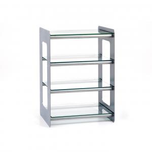 Custom Design Concept 400 Hi-Fi Steel Mercury With Brushed Chrome Cross Bars and Clear Glass