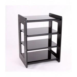 Custom Design Concept 400 Hi-Fi Wood Black With Black Cross Bars and Black Glass