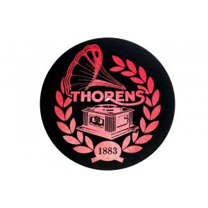 Thorens Platter Mat Felt Black With Red Logo