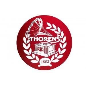 Thorens Platter Mat Felt Red With White Logo