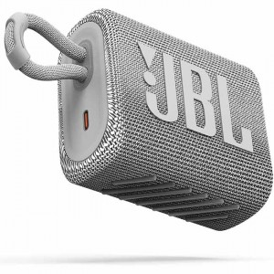 JBL GO 3 Waterproof Portable Bluetooth Speaker White